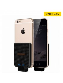WUW Portable 2200 mAh Power Bank For IOS Devices - Black