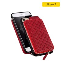 WUW Special Design Leather Wallet Case For iPhone 7 - Red