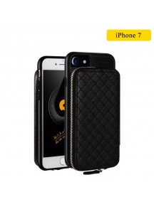 WUW Special Design Leather Wallet Case For iPhone 7 - Black