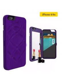 iFrogz Multi-Function Luxury Charisma Mirror Wallet Handbag Case for iPhone 6/6S - Purple