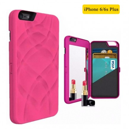 iFrogz Multi-Function Luxury Charisma Mirror Wallet Handbag Case for iPhone 6 Plus /6S Plus - Pink