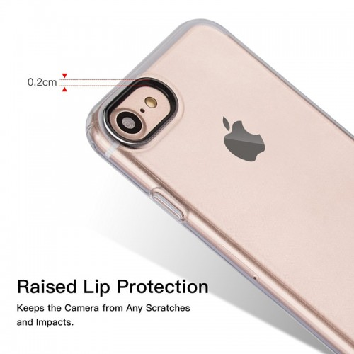 G-CASE TPU Back Case with Metal Holder For iPhone 7 / 8 - Trasparent Clear