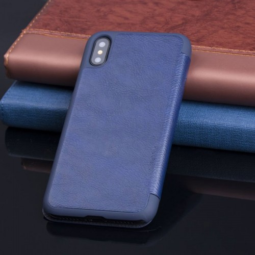 G-Case Business Series Book Case For iPhone X - Blue