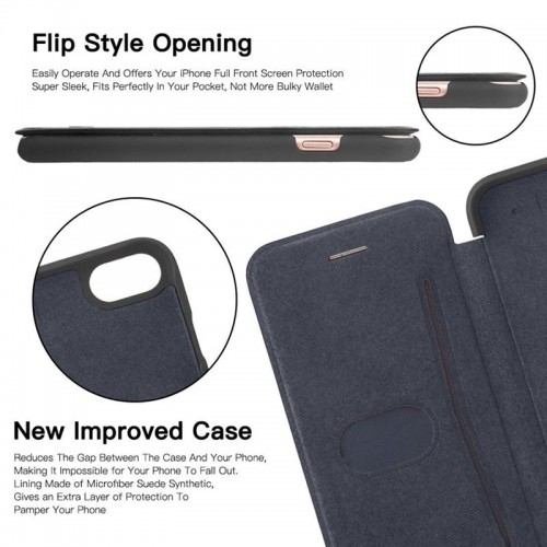 G-Case Business Series Book Case For iPhone X - Black