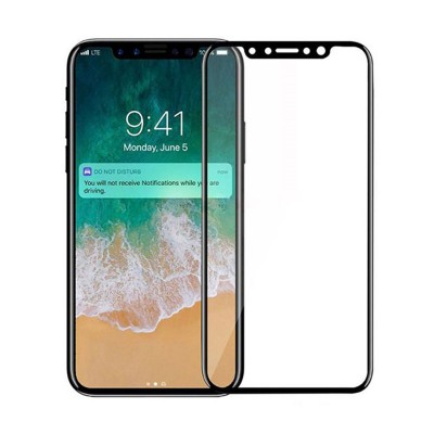 3D Full Protection Tempered Glass For iphone X - Black
