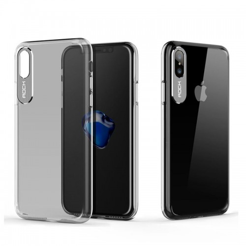 Rock Classy Series Case For iPhone X - Transparent