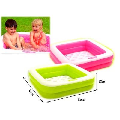 Intex 57100 - Square Baby Pool  - Green