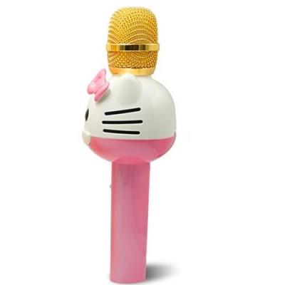 Hello Kitty Bluetooth Wireless Magic Karaoke Microphone Speaker MIC - Pink