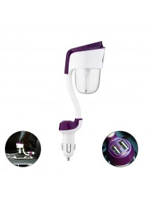NANUM 2 Car humidifier with 2 USB Car Charger - Purple
