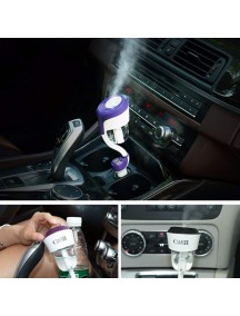 NANUM 2 Car humidifier with 2 USB Car Charger - Black