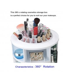 Cosmake Carousel 360 Degree Rotating Cosmetic Makeup Organizer - White