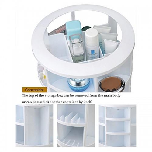Cosmake Carousel 360 Degree Rotating Cosmetic Makeup Organizer - White