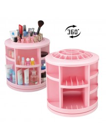 Cosmake Carousel 360 Degree Rotating Cosmetic Makeup Organizer - Pink