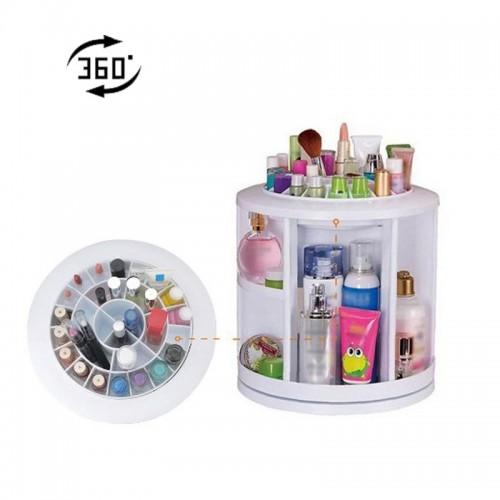 Cosmake Carousel 360 Degree Rotating Cosmetic Makeup Organizer - Pink