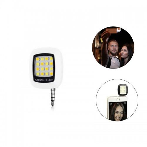 Built-in 16 LED Selfie Flash Light - Whi...