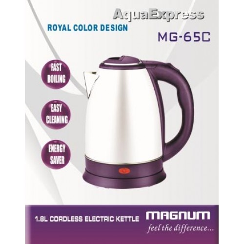 MAGNUM CORDLESS STEEL KETTLE 1.8 LTR. MG...
