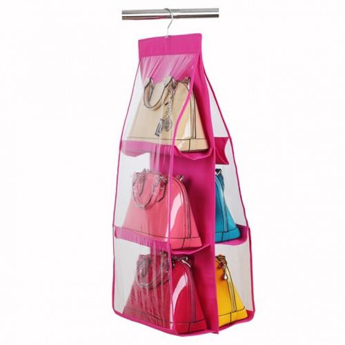 Hanging Closet Handbag Organizer 6 Pockets
