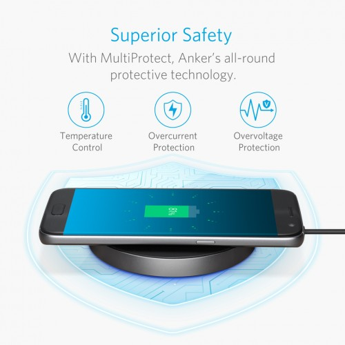 Anker Power Touch 10W Wireless Charging Pad with 3ft/0.9m Cable