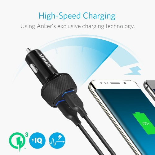 Anker PowerDrive Speed 2 (Dual QC 3.0) Black