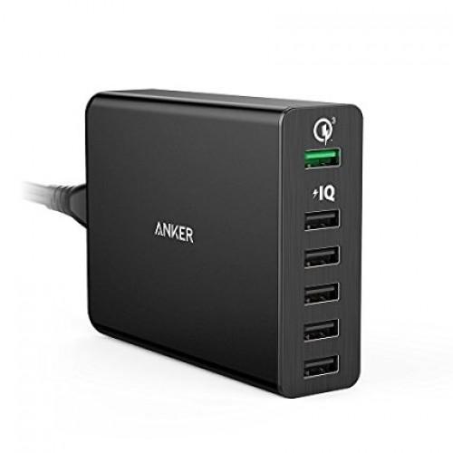 Anker PowerPort+6 iQ & QC 3.0 - Blac...