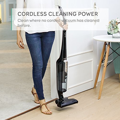 eufy by Anker HomeVac Lightweight Cordless Upright-Style Vacuum Cleaner - Black