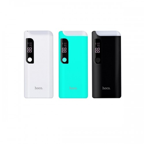 HOCO B27 15000mAh Dual USB Ports Universal External Power Bank with LED Light - Black