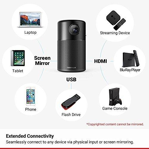 Nebula Capsule Smart Projector - Black