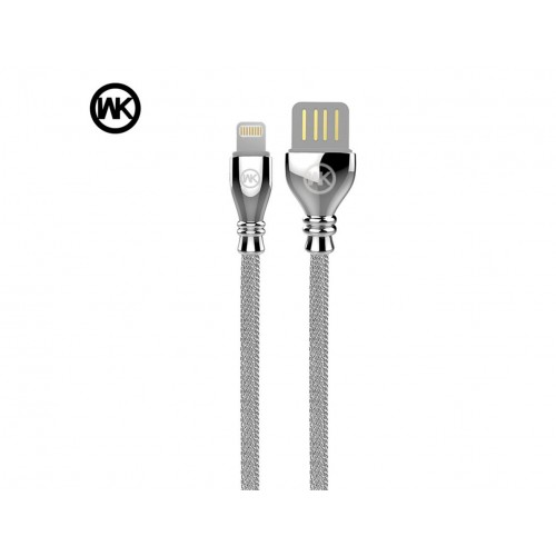 WK Supreme Special Design Cable For iOS Devices - Silver