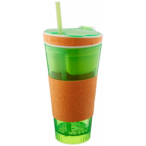 Assorted Color 2 in 1 Snackeez Cup for S...