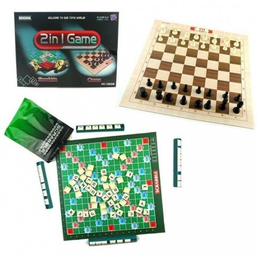 2 in 1 Game: Scrabble + Chess