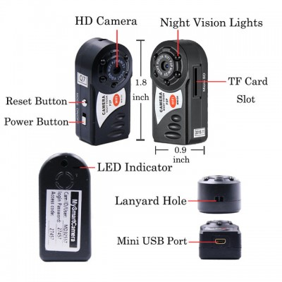 Wifi Mini Q7 Camera 640P  DVR Wireless IP